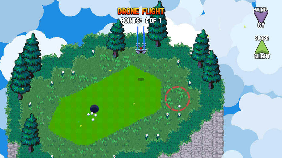 Golf Story Nintendo Switch screenshot drone flight