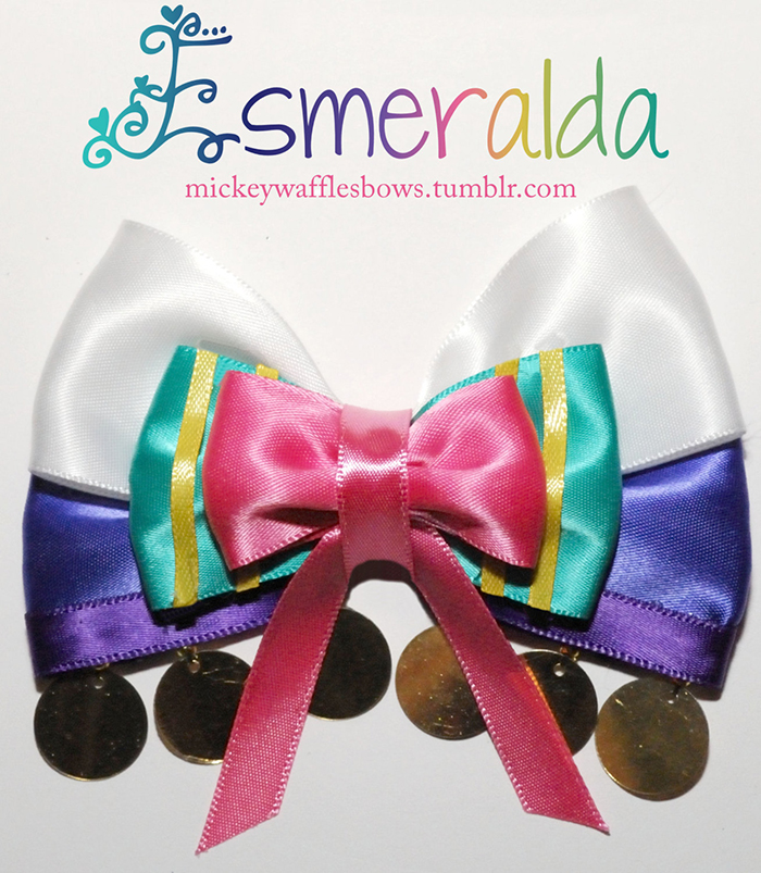 Esmeralda-inspired hair bow from Etsy