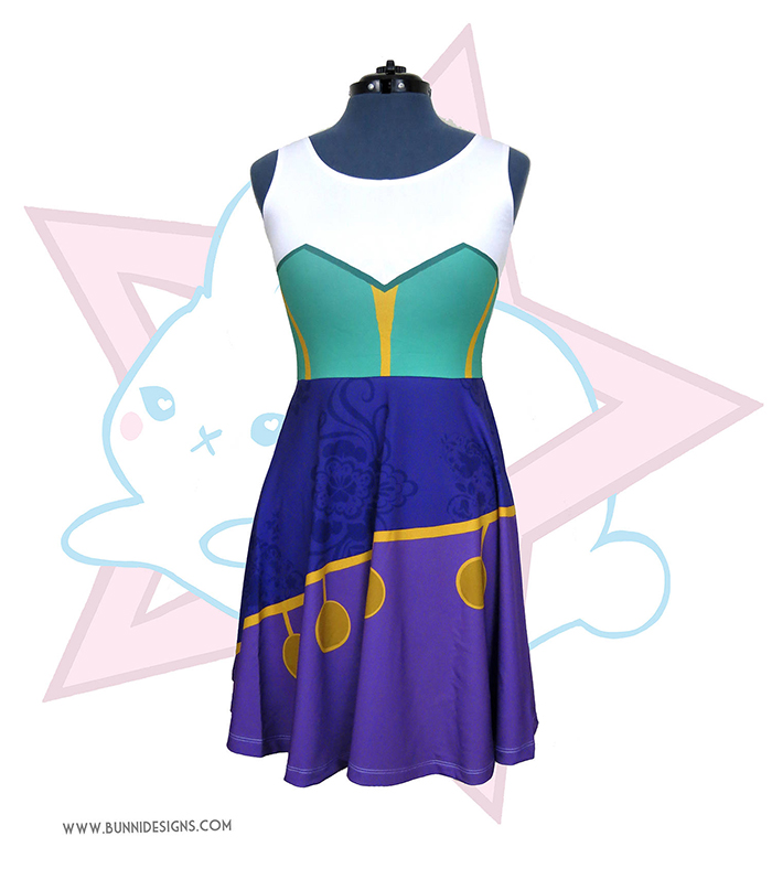 Esmeralda-inspired skater dress from Etsy