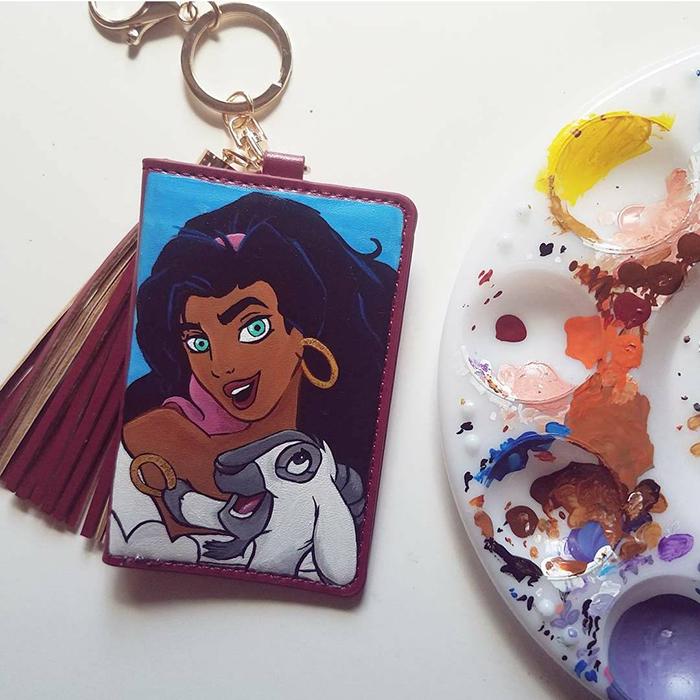 Esmeralda keychain wallet from Etsy