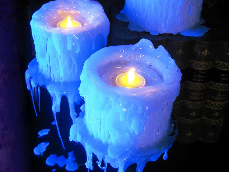 Faux drip candles