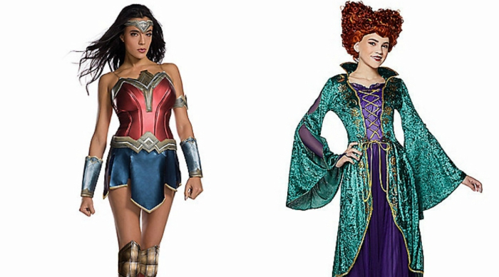 Wonder Woman and Winifred Sanderson costumes