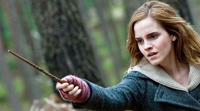 Hermione waving wand