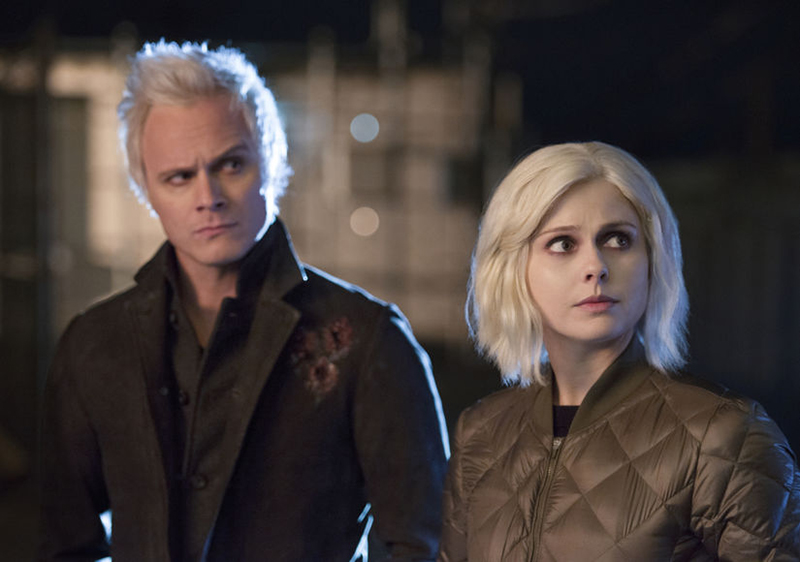 "iZombie -- ""Conspiracy Weary"" -- Image Number: ZMB311b_0384.jpg -- Pictured (L-R): David Anders as Blaine and Rose McIver as Liv -- Photo: Diyah Pera/The CW -- © 2017 The CW Network, LLC. All rights reserved."
