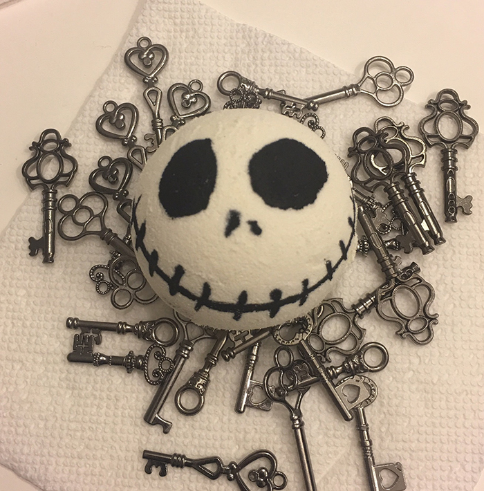 Jack Skellington bath bomb from Etsy