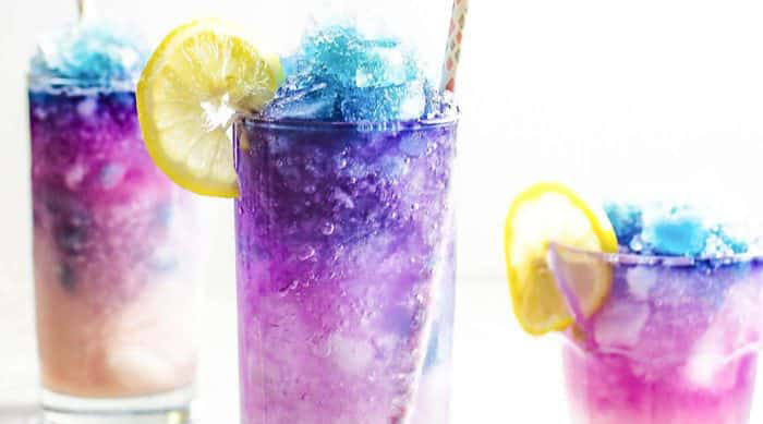 Galaxy lemonade slushie recipe from The Flavor Bender