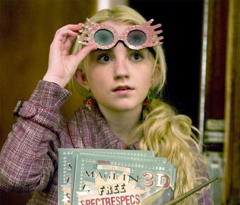 Lune Lovegood wearing Spectrespecs in Harry Potter and the Half-Blood Prince