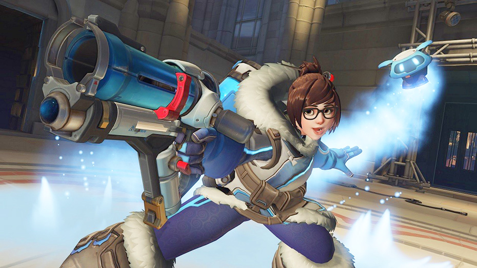 Mei from Overwatch with ice powers