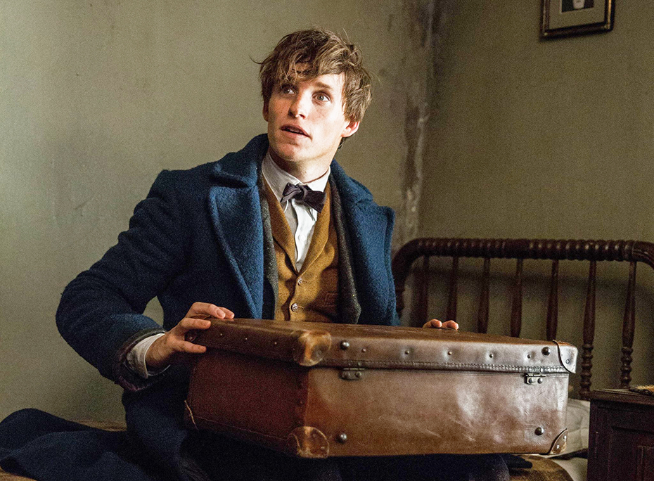 Newt Scamander with his briefcase in Fantastic Beasts and Where to Find Them