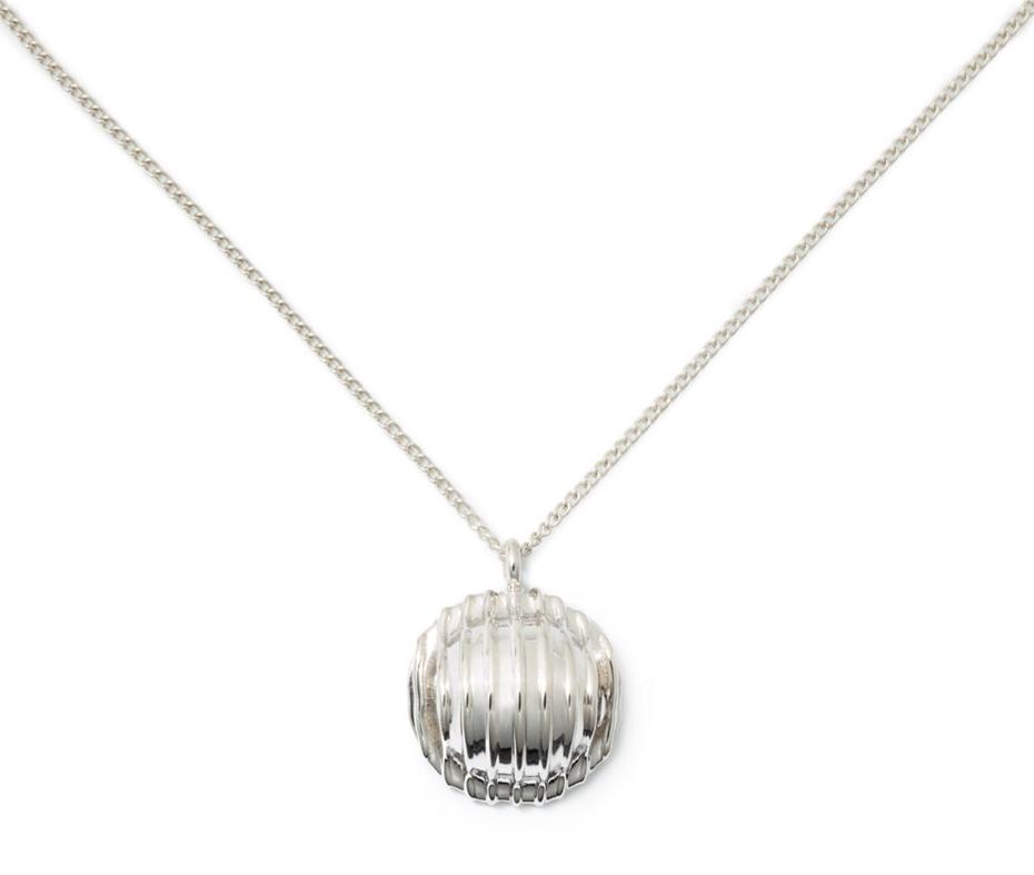 Delicacies sterling silver pasta necklace farfalle orecchiette