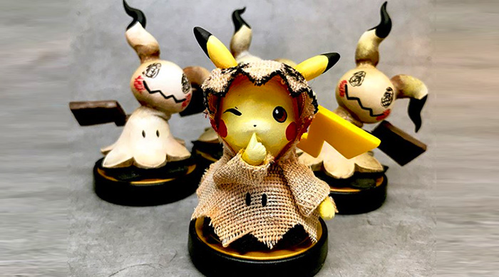 Custom GandaKris Pikachu dressed as Mimikyu Amiibo
