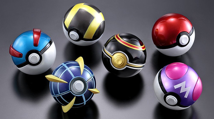 Bandai Poké Balls background