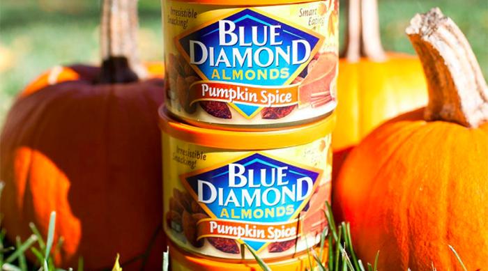 Blue Diamond's pumpkin spice-flavored almonds