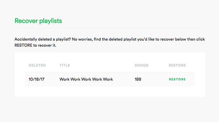 How to recover a deleted playlist on Spotify