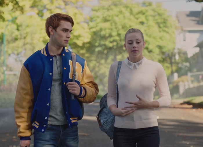 Archie and Betty walking home together on Riverdale