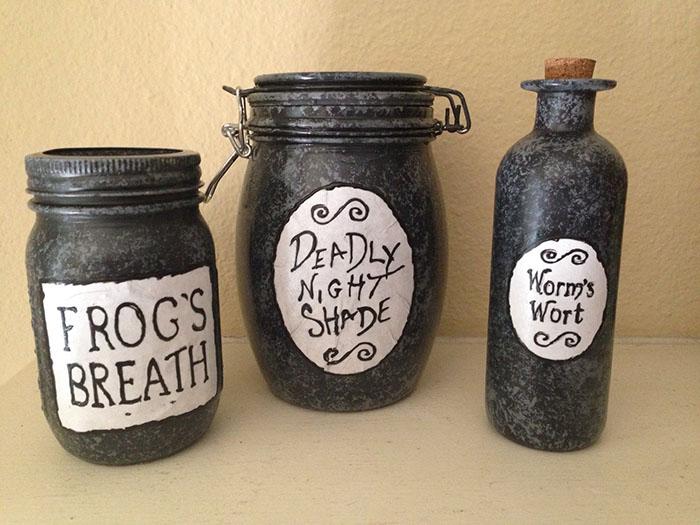 Sally's jars from Etsy