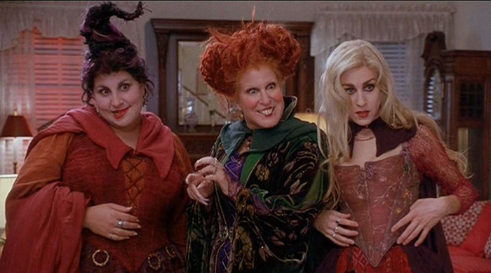 Winifred, Mary and Sarah Sanderson at the devil's house in Hocus Pocus