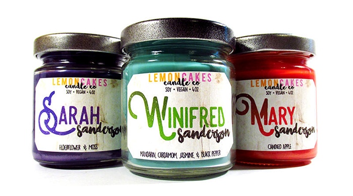 Sanderson Sisters-inspired candles from Etsy