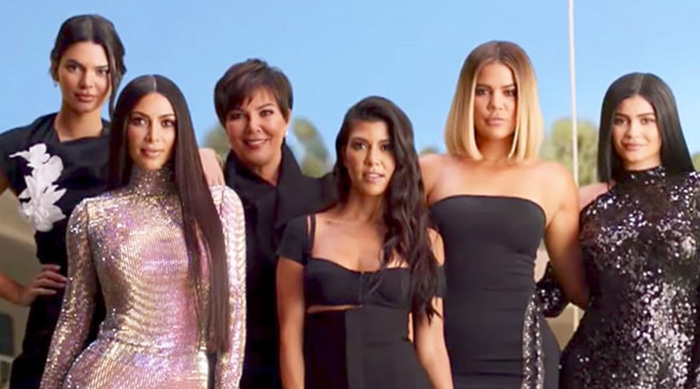 The 10 year anniversary intro of Keeping Up With the Kardashians