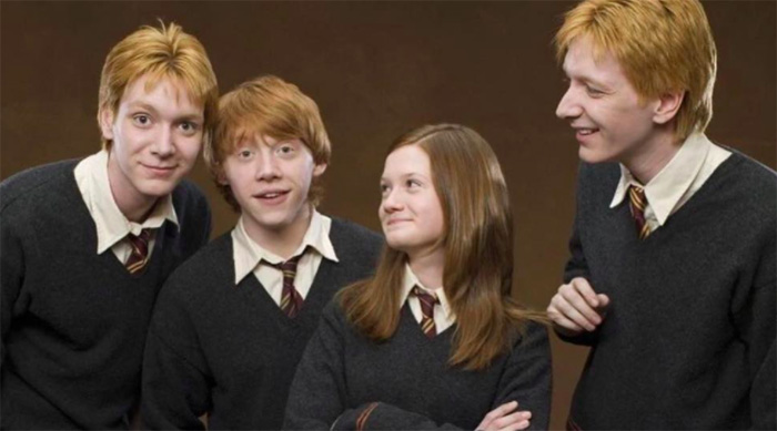 The Weasley siblings from Harry Potter