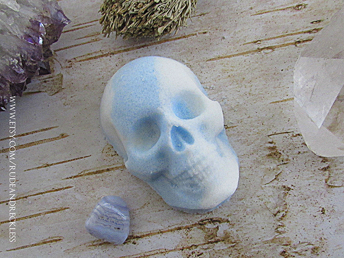 Skull bath bomb from Etsy