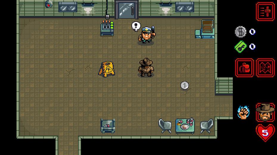 Stranger Things game: Hopper fighting baddies