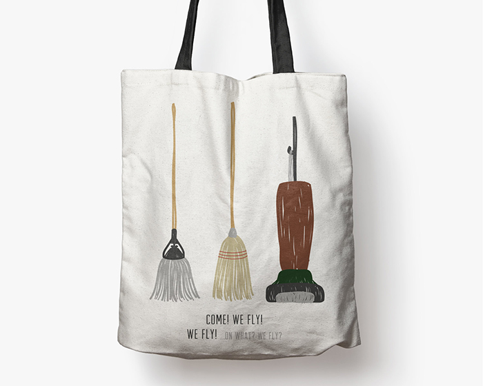 """We fly!"" tote bag from Etsy"