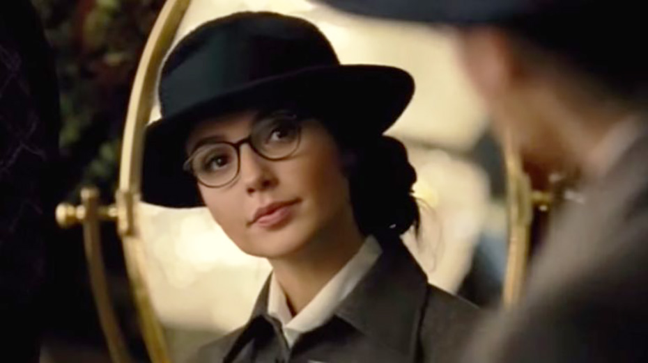Wonder Woman in glasses disguise