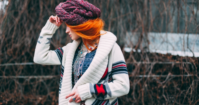 girl dressed for cold weather