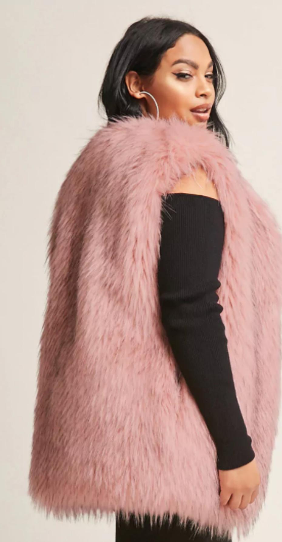Pink Furry coat