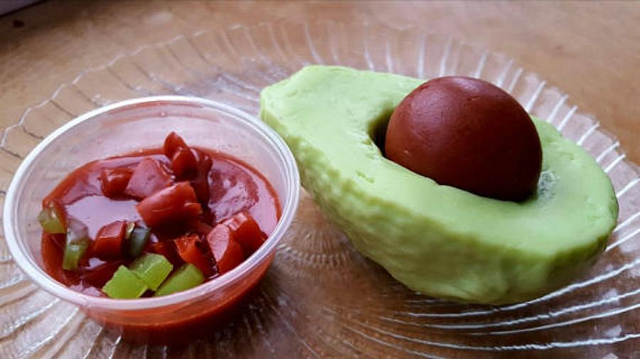 Avocado and salsa soap