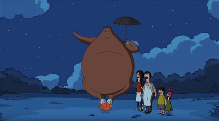 Bob's Burgers: Thanksgiving episode Turkey Totoro