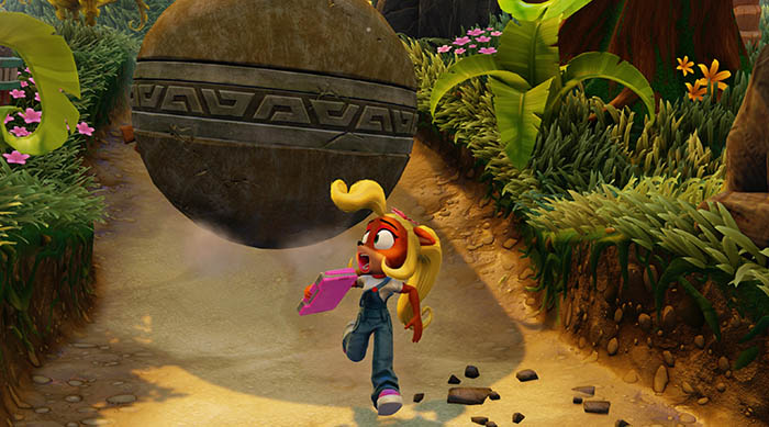 Crash Bandicoot N. Sane Trilogy coco running from boulder