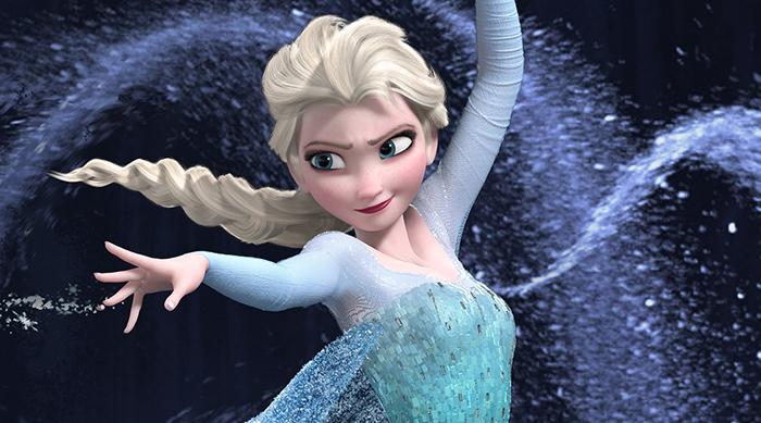 "Elsa singing ""Let It Go"" while building her ice castle in Disney's Frozen"