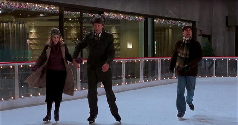 Buddy the Elf ice skating in Elf