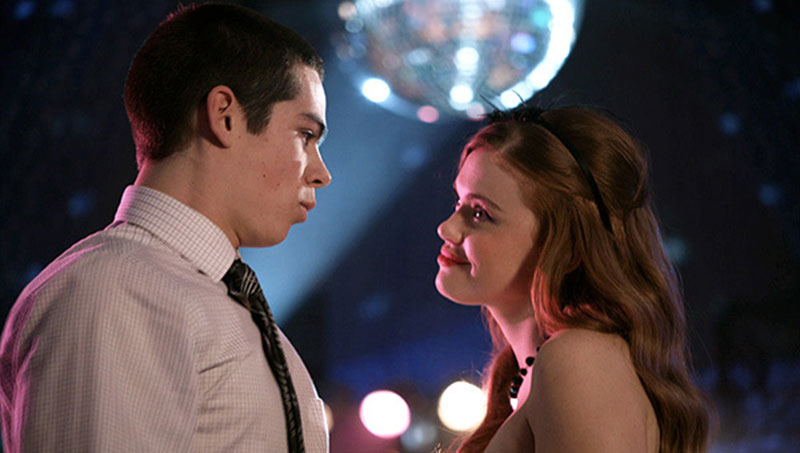 Stiles and Lydia at the school dance on Teen Wolf
