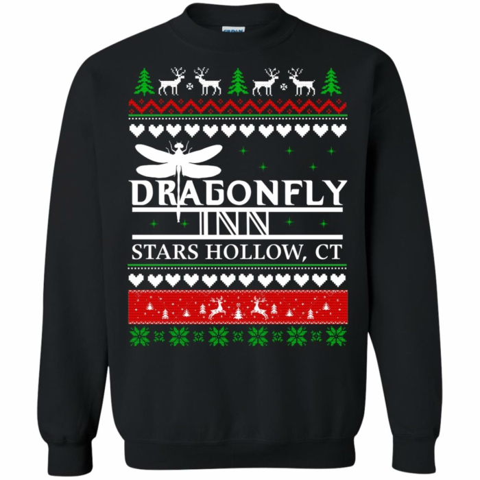 Dragonfly Inn holiday sweater