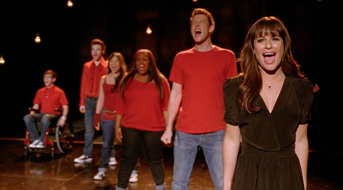 Glee club performing