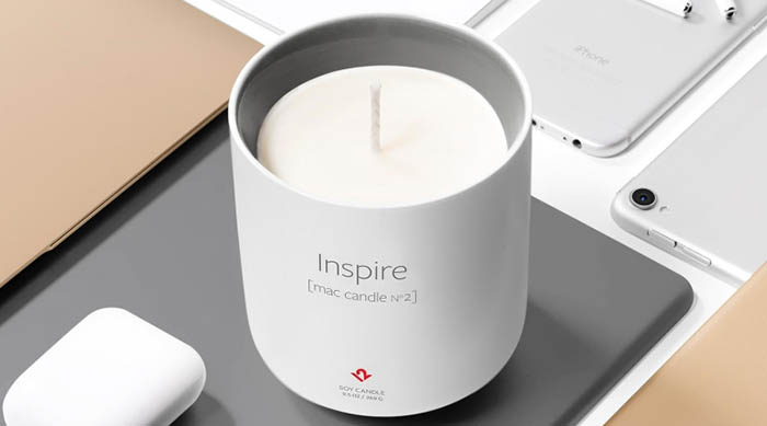 Twelve South Inspire candle on Apple devices