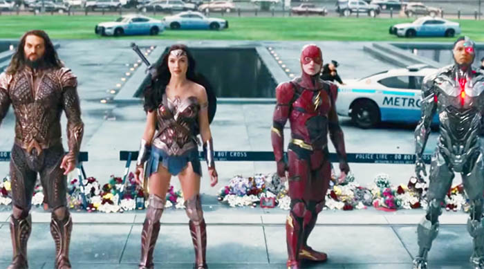 Justice League film: Aquaman, Wonder Woman, The Flash and Cyborg