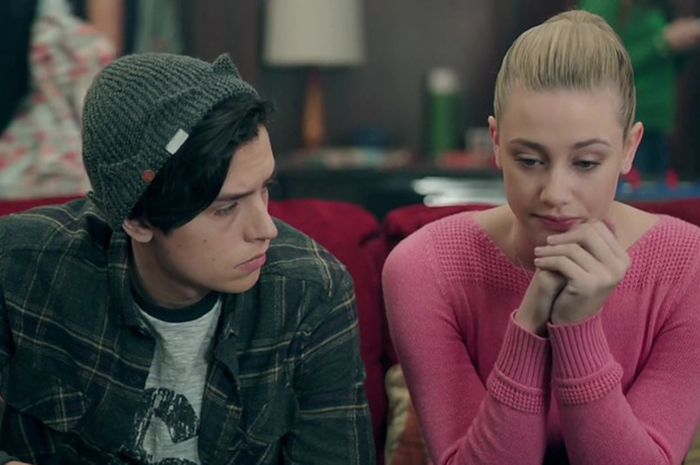 Jughead comforting Betty on Riverdale