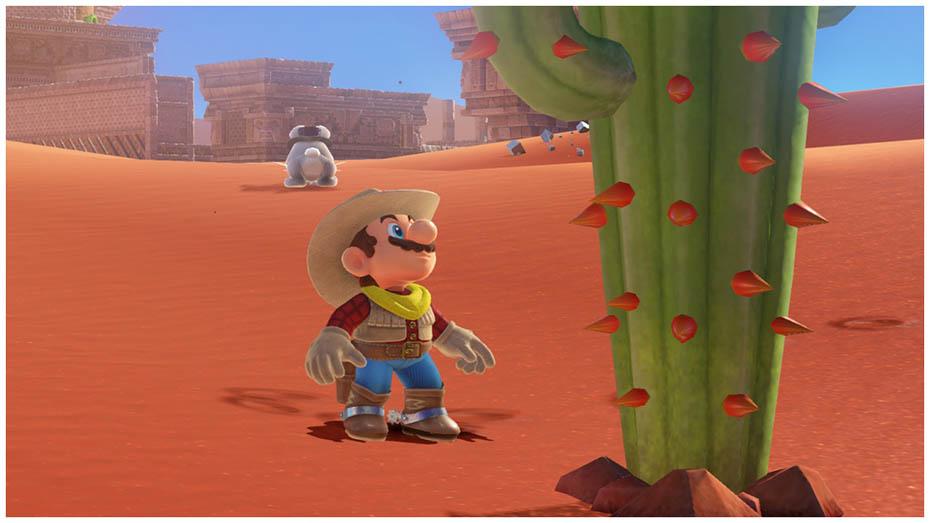 Super Mario Odyssey: cowboy outfit in dessert