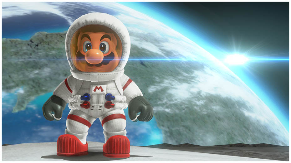Super Mario Odyssey: Astronaut outfit