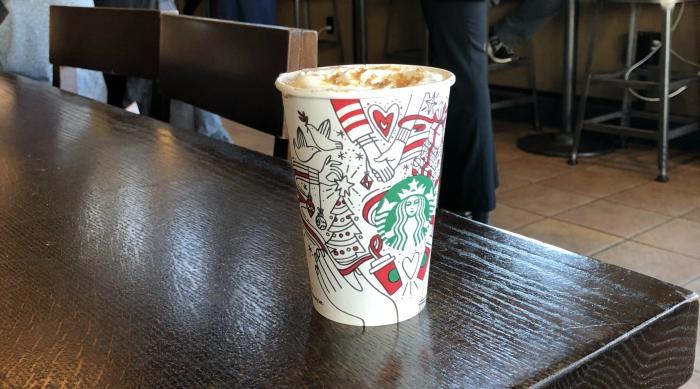 Starbucks' Toffee Almondmilk Hot Chocolate
