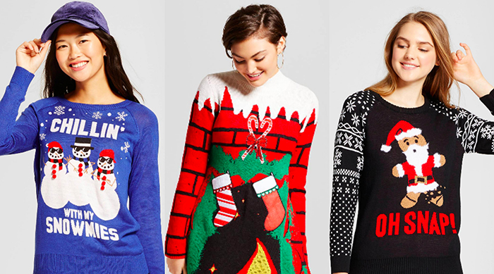 Ugly holiday sweaters from Target