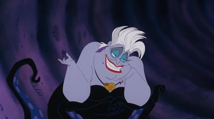 Ursula shrugging, the Little Mermaid