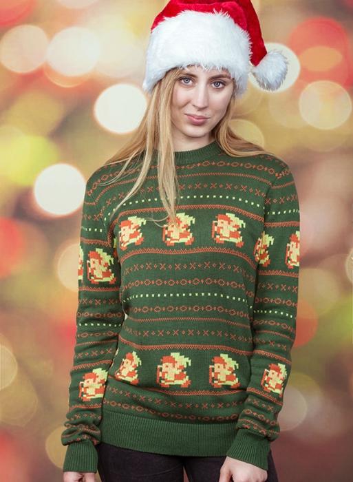 Zelda as Santa holiday sweater