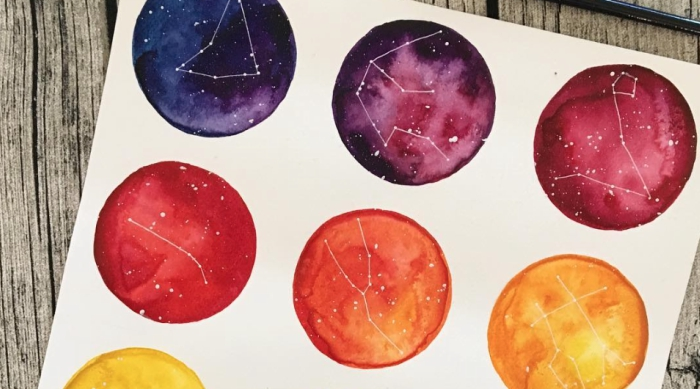 Zodiac Constellations in Paint Palettes