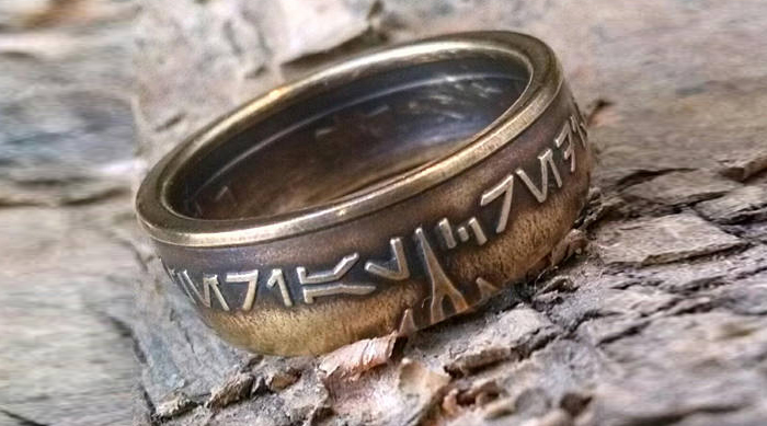 Star Wars aurebesh ring