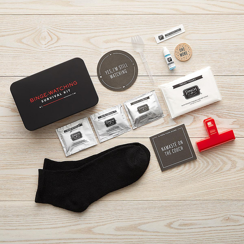 Binge-watching survival kit from The Container Store